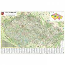 Silniční mapa ČR, 200 x 132 cm, laminovaná, očka