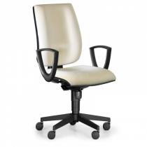 Kancelářská židle FIGO s područkami, synchronní mechanika, béžová