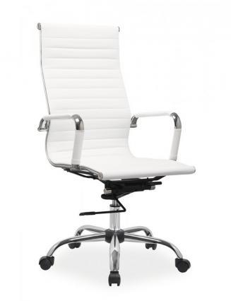 Kancelářské křeslo Sedia Kancelářské křeslo Q040 bílá koženka