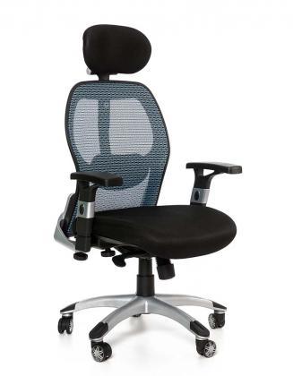 Kancelářské židle Peška Kancelářské křeslo Merkur Eco modrá
