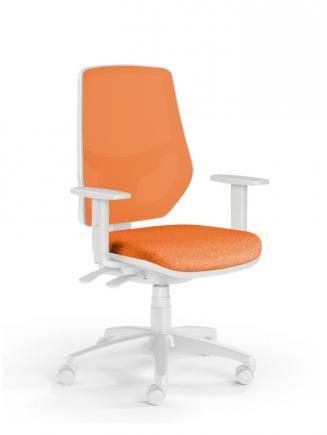 Kancelářské židle Emagra Kancelářská židle LEX 230/BW oranžová