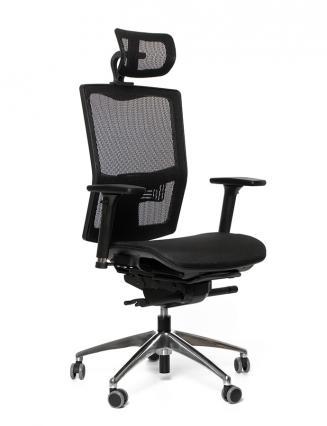 Kancelářské židle Emagra Kancelářská židle X5M černá G52 4M F 18 černé plasty s podhlavníkem