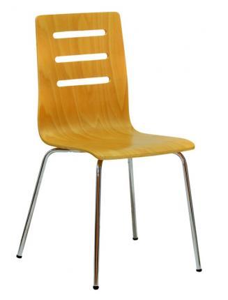 Jídelny a skořepiny OFFICEPRO Jídelní židle TINA buk/chrom