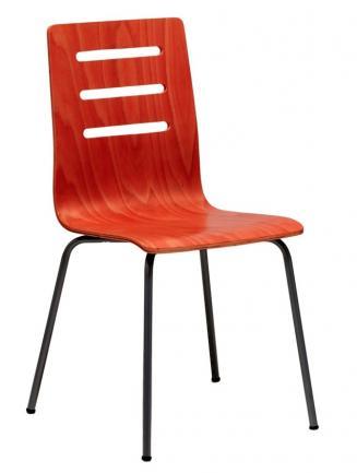 Jídelny a skořepiny OFFICEPRO Jídelní židle TINA třešeň/hliník