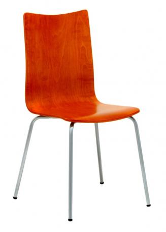 Jídelny a skořepiny OFFICEPRO Jídelní židle RITA třešeň/hliník