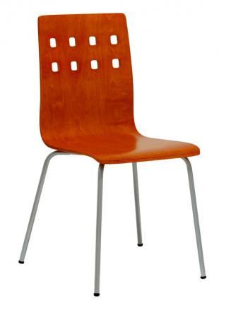 Jídelny a skořepiny OFFICEPRO Jídelní židle NELA třešeň/hliník