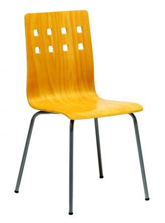 Jídelny a skořepiny OFFICEPRO Jídelní židle NELA buk/hliník