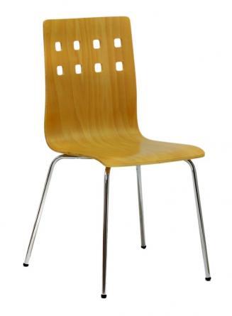 Jídelny a skořepiny OFFICEPRO Jídelní židle NELA buk/chrom