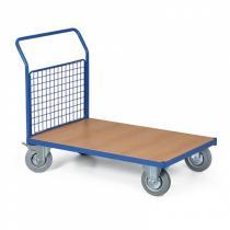 Plošinový vozík s drátěnou výplní madla, 1000x700 mm, 400 kg