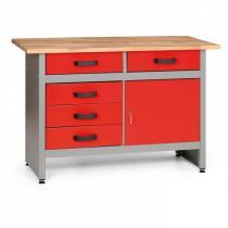 Pracovní stůl se zásuvkami a skříňkou