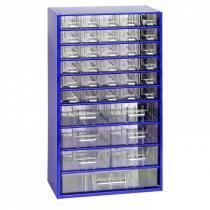 Kovové závěsné skříňky se zásuvkami, 30+6+1 zásuvek