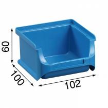 Plastové boxy PLUS 1, 102x100x60 mm, modré, 30 ks