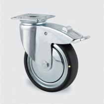 Antistatické přístrojové kolo otočné brzdou, 50 mm