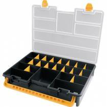 Plastový kufřík na drobný materiál, 443x317x80 mm, 22 přihrádek