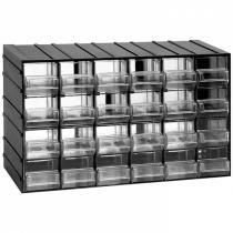 Modulová skříňka se zásuvkami, 382x148x230 mm, 24 zásuvek