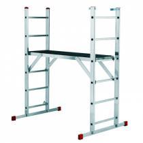 Víceúčelový žebřík s plošinou, 2 x 6 stupňů + plošina