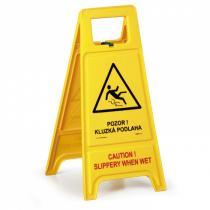 Výstražný stojan - Pozor! Kluzká podlaha CZ