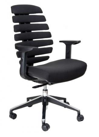Kancelářská židle Node Kancelářská židle FISH BONES černý plast, černá látka 26-60