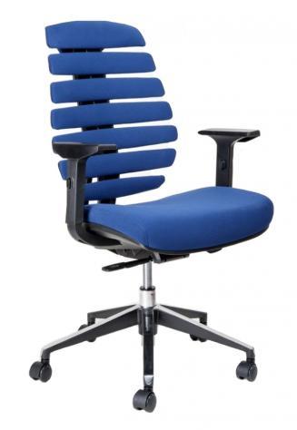 Kancelářská židle Node Kancelářská židle FISH BONES černý plast, modrá látka 26-67