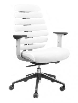 Kancelářská židle Node Kancelářská židle FISH BONES šedý plast,bílá látka TW 50F MESH