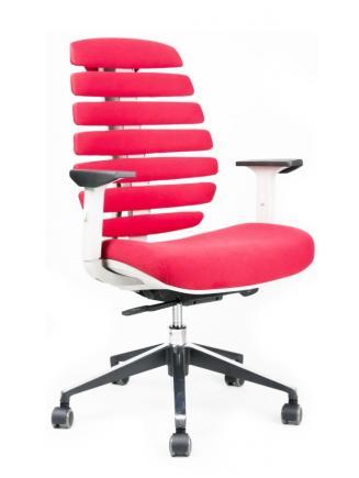 Kancelářská židle Node Kancelářská židle FISH BONES šedý plast,červená látka 26-68