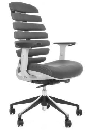 Kancelářská židle Node Kancelářská židle FISH BONES šedý plast, šedá látka TW12