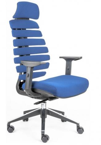 Kancelářská židle Node Kancelářská židle FISH BONES PDH černý plast, modrá látka 26-67