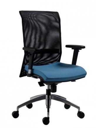 Kancelářské židle Antares Kancelářská židle 1580 SYN Gala NET (grey) ALU