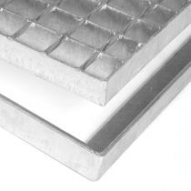 Kovová rohož ze svařovaných podlahových roštů bez gumy bez pracen Galva - 101,5 x 101,5 x 3,5 cm