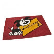 Kokosová vstupní rohož Welcome - Dog - 75 x 45 x 1,7 cm