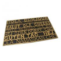 Gumová vstupní rohož Multilanguage - 75 x 45 x 0,9 cm