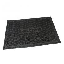 Gumová vstupní kartáčová rohož Welcome - Waves - 60 x 40 x 0,8 cm