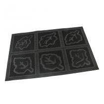 Gumová vstupní kartáčová rohož Leaves - Squares - 60 x 40 x 0,7 cm