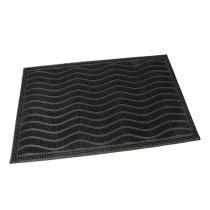 Gumová vstupní kartáčová rohož Waves - 60 x 40 x 0,9 cm