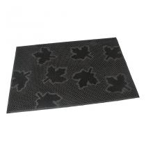 Gumová vstupní kartáčová rohož Leaves - 60 x 40 x 0,8 cm