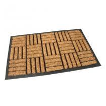 Gumová kokosová vstupní rohož Squares - Lines - 75 x 45 x 2 cm
