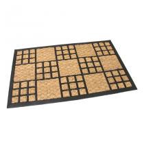 Gumová kokosová vstupní rohož Square Mix - 75 x 45 x 1 cm
