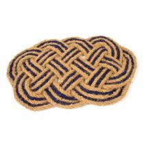 Kokosová vstupní rohož Jumbo Oval Blue - 75 x 45 x 3,5 cm