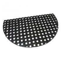 Gumová vstupní čistící půlkruhová rohož Honeycomb - 75 x 45 x 2,2 cm