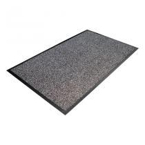 Šedá textilní čistící vnitřní vstupní rohož - 90 x 60 x 0,8 cm
