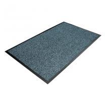 Modrá textilní čistící vnitřní vstupní rohož - 90 x 60 x 0,8 cm