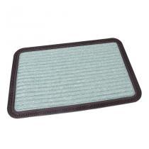Zelená textilní vstupní rohož Stripes - 60 x 40 x 0,8 cm