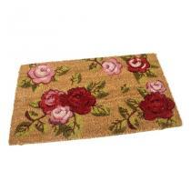Kokosová vstupní rohož Roses - 60 x 35 x 1,7 cm