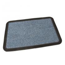 Modrá textilní vstupní rohož Chaos - 60 x 40 x 0,8 cm