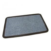 Modrá textilní vstupní rohož Chaos - 75 x 45 x 0,8 cm