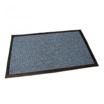Modrá textilní vstupní rohož Criss Cross - 75 x 45 x 1 cm