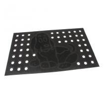 Gumová vstupní děrovaná kartáčová rohož Dog - 75 x 45 x 0,7 cm