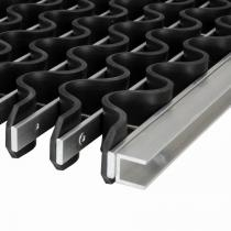Hliníková gumová čistící venkovní vstupní rohož Alu Wave - 100 x 100 x 2,2 cm