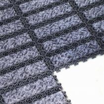 Černá plastová čistící vnitřní vstupní rohož - 20,5 x 20,5 x 1,1 cm