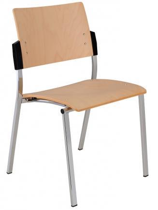Konferenční židle - přísedící Alba Konferenční židle Square dřevěná